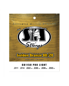 SIT Strings Golden Bronze 80/20 Pro Light Acoustic Guitar Strings (11-50)