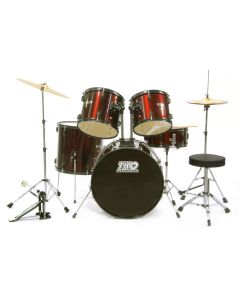 TKO TKO419WR 5-Piece Drum Set Wine Red
