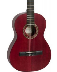 Valencia VC203 200 Series 3/4 Size Classical Guitar. Transparent Wine Red