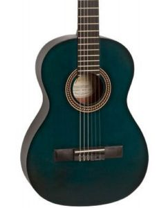 Valencia VC203 200 Series 3/4 Size Classical Guitar. Transparent Blue