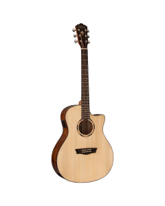 Washburn WLO10SCE Woodline Acoustic Electric Guitar. Natural