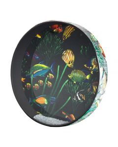 Remo ET-0216-10 Ocean Drum. Fish Graphic 16""