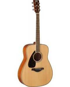 Yamaha FG820L Left-Handed Dreadnought Acoustic Guitar Natural