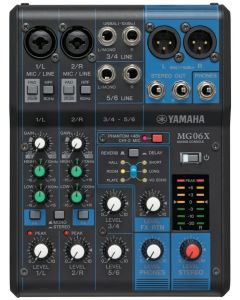 Yamaha MG06X 6-Input Mixer with Built-In Effects TGF11